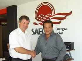 Visita de Alexander Gramm, CEO de Parity Solar [Alemania], a las instalaciones de SAECSA Energía Solar