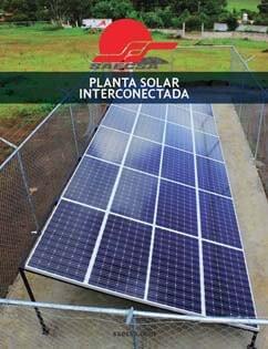 Planta Eléctrica Solar Línea Interconectada
